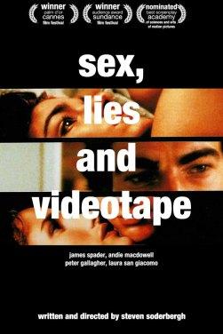 Risultati immagini per SEX LIES AND VIDEOTAPE ( 1989 ) POSTER